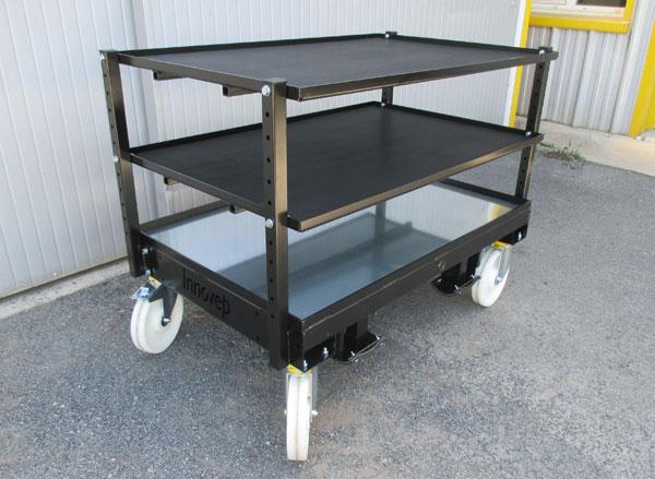 Chariot-étagères-tiroirs